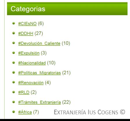 Extranjería Ius Cogens: categorias.