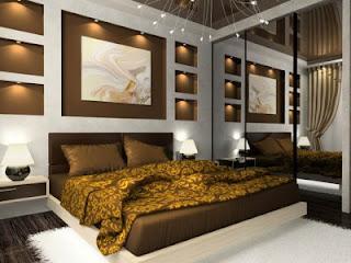 interior kamar tidur kecil minimalist
