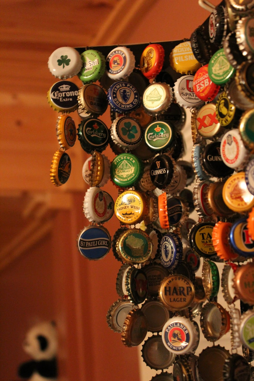 bottle cap wind chime the pleasant tense