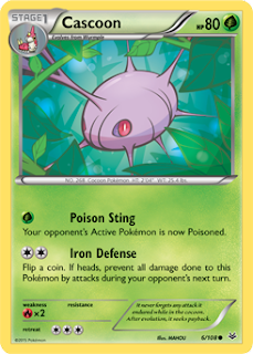 Cascoon Roaring Skies Pokemon Card