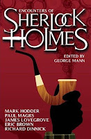 Book cover of Encounters of Sherlock Holmes collected by George Mann