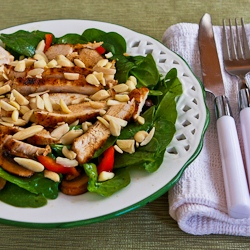 Kalyn's Kitchen®: Recipe for Asian Spinach Salad with ...