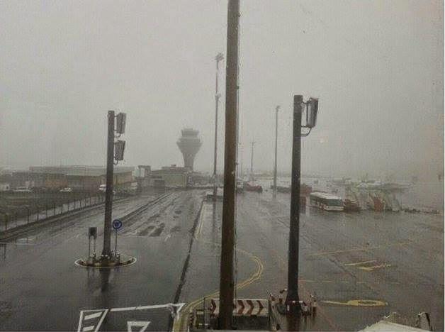 Aeropuerto  Tenerife Norte cerrado por temporal 23, noviembre