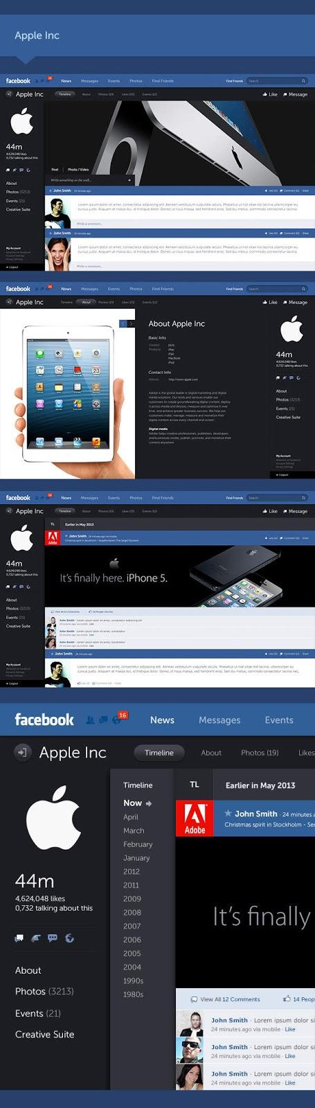 facebook, tampilan facebook, tampilan baru facebook, facebook baru