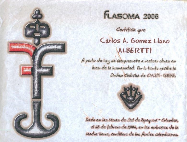 Certificado Flasoma 2006