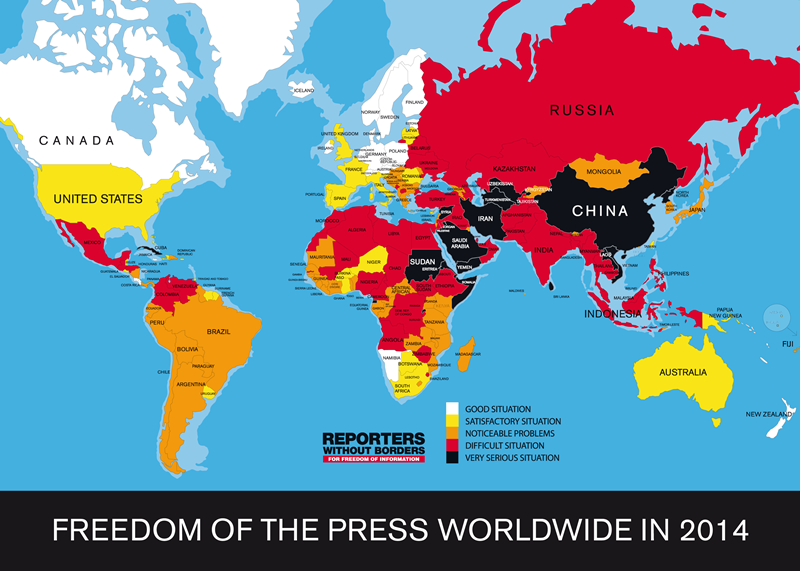 Freedom of the Press Worldwide, 2014