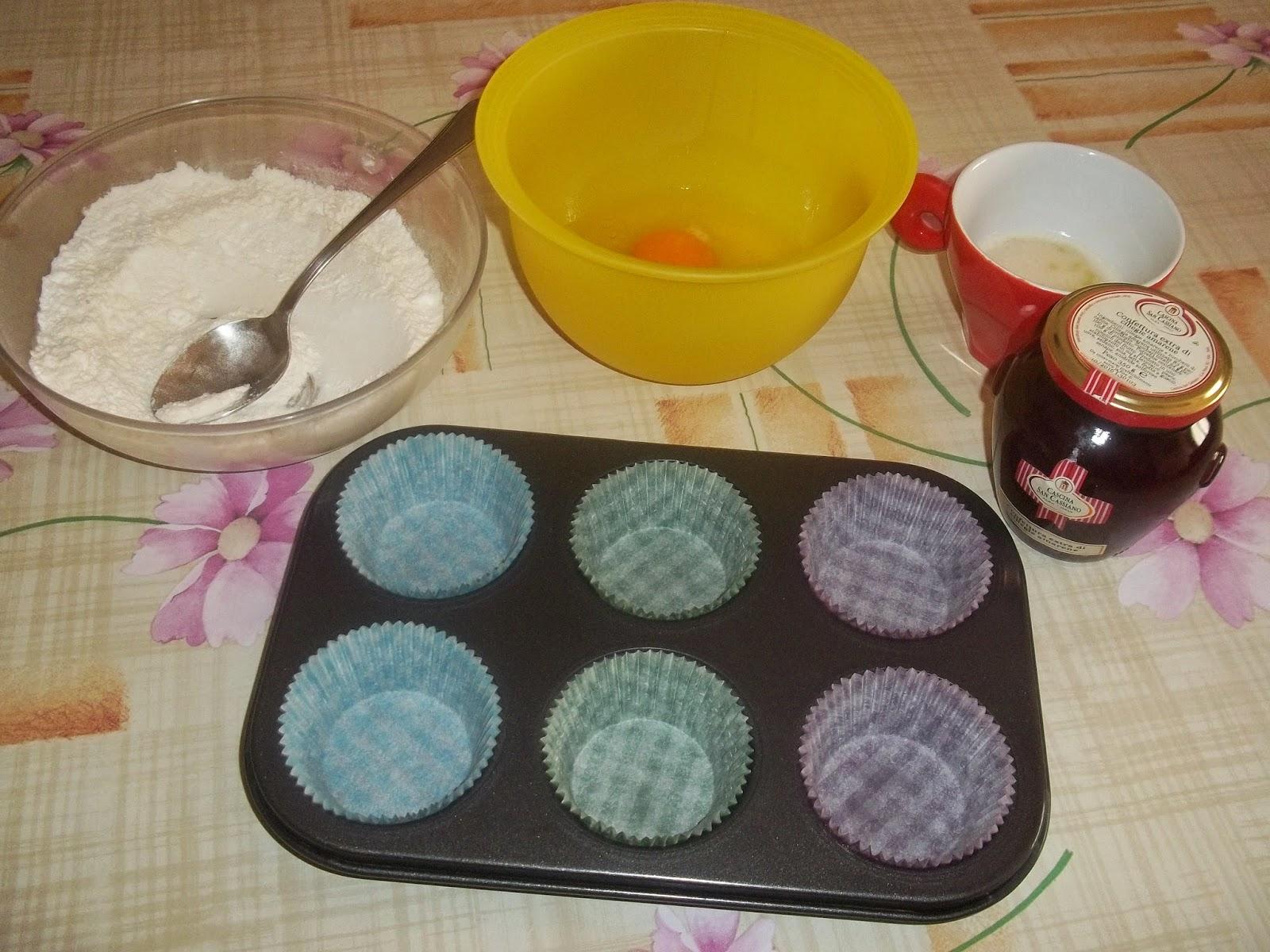 muffin alla confettura di ciliegie cascina san cassiano