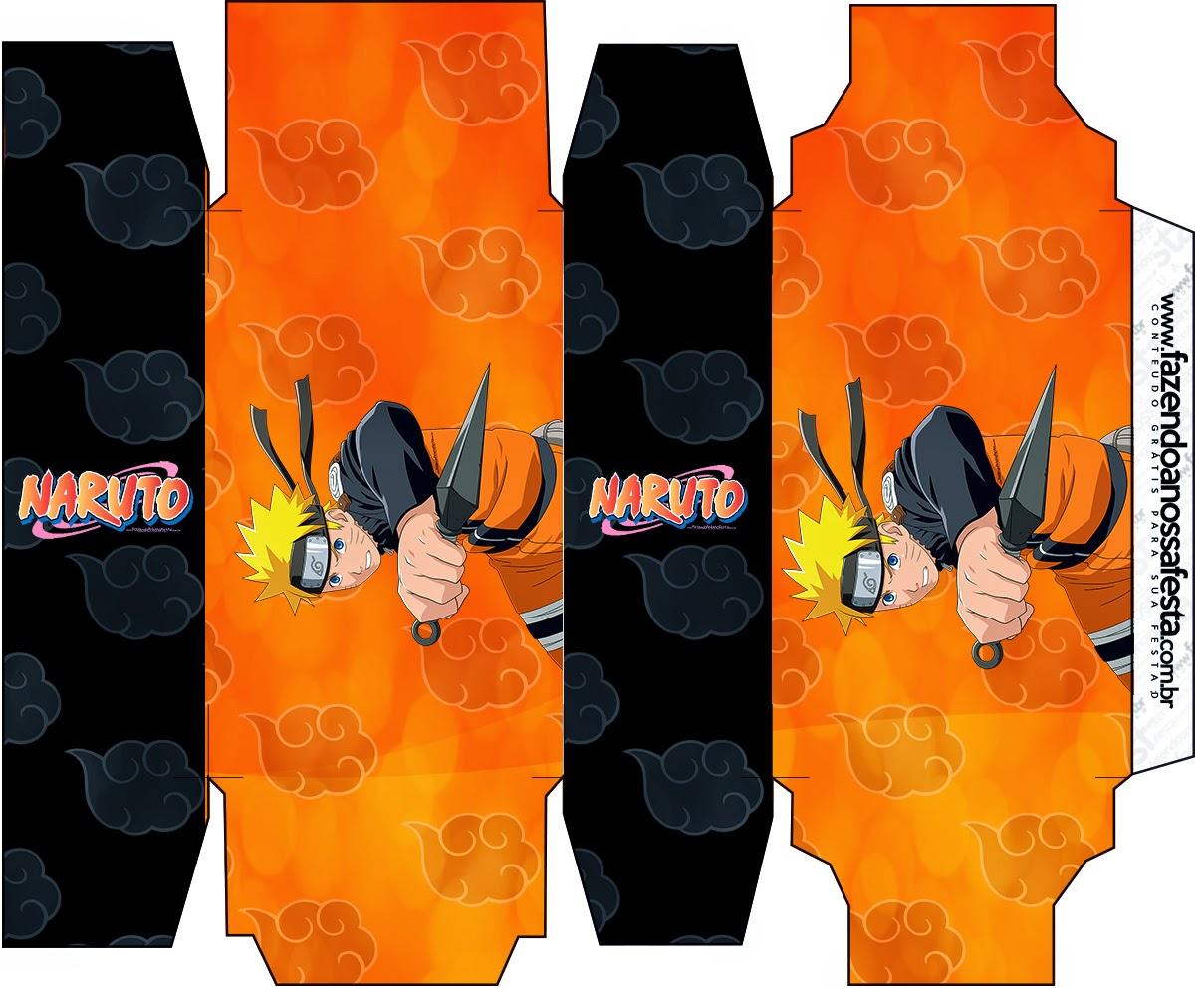 Caja de Naruto Negro para Imprimir Gratis.