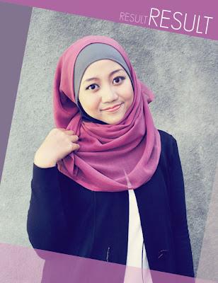 Jilbab on Hasil Akhir Cara Memakai Jilbab Paris Segi Empat Modern