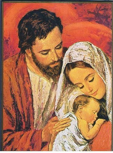 Pensez, soyez et restez à l'image de la famille concrète dans laquelle Dieu a voulu naître.  Soyez exemplaires et saints ... I-Grande-121053-icone-cithare-20x25-la-sainte-famille.net