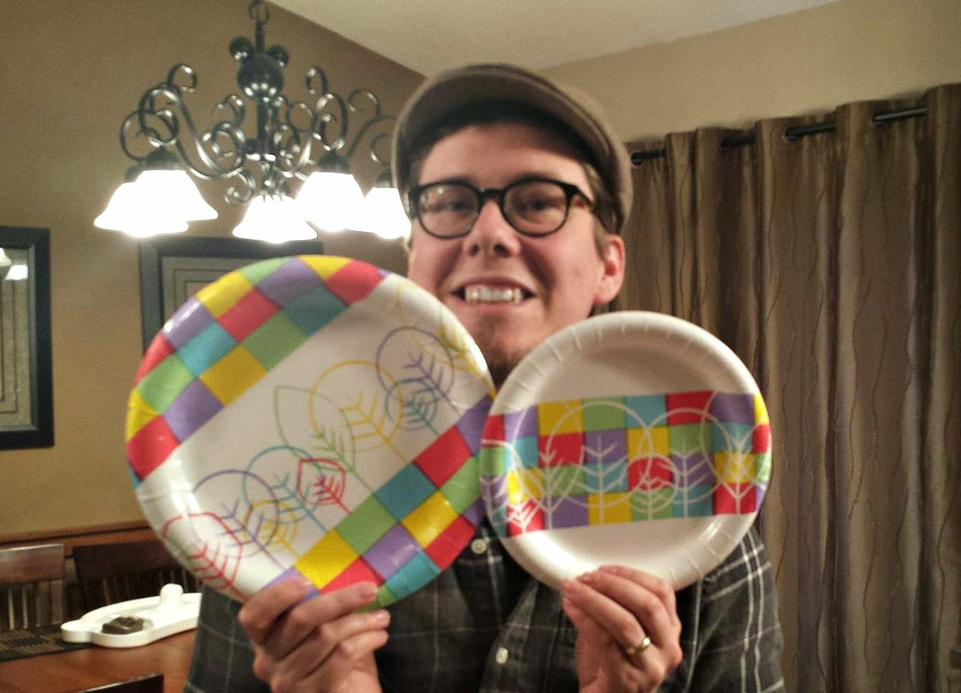I found two sizes of Essential Everyday Designer plates in town at the IGA. They were both the kind with the colored pattern across the center and white ...  sc 1 st  Lookinu0027 Up & Lookinu0027 Up: Designer Paper Plates