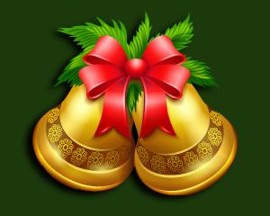 Adornos y campanas de Navidad
