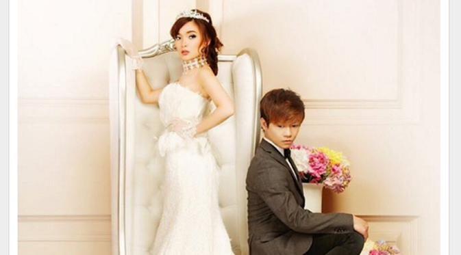Foto Pernikahan Angel eks Cherrybelle