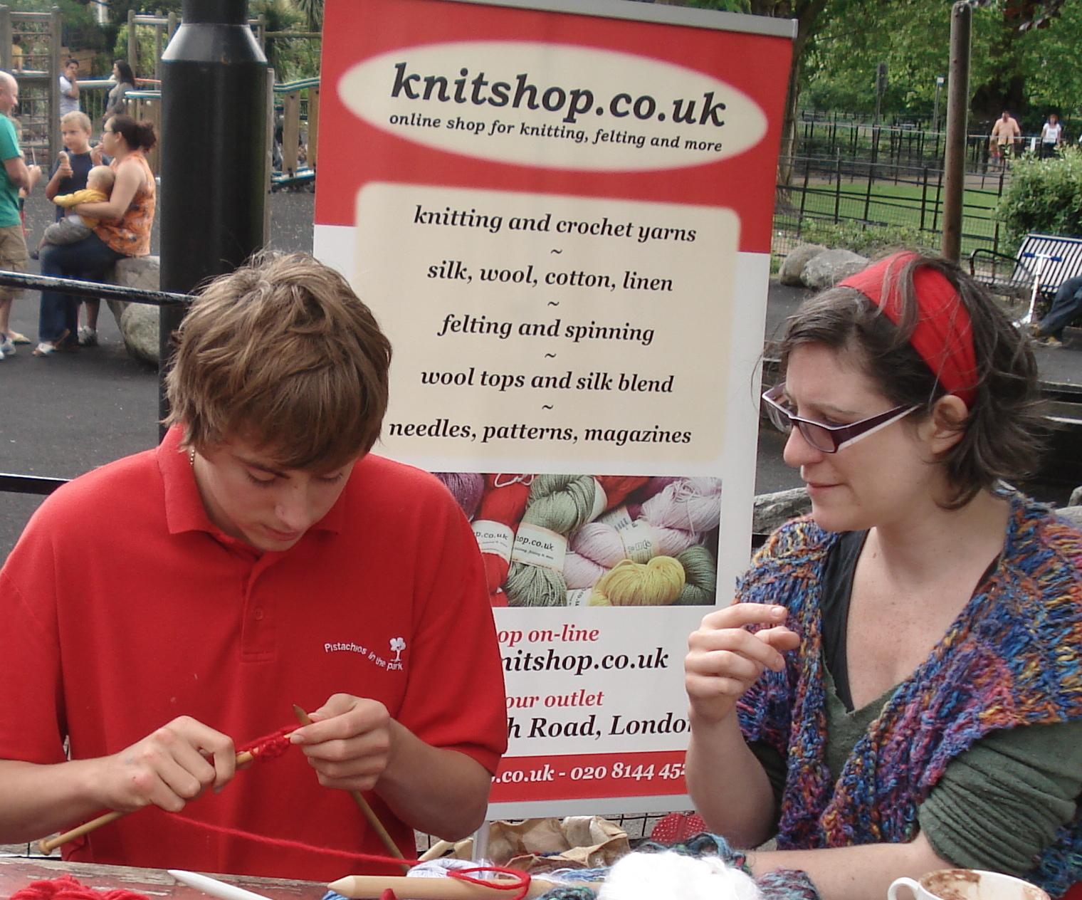 Knitting at Manor House Park