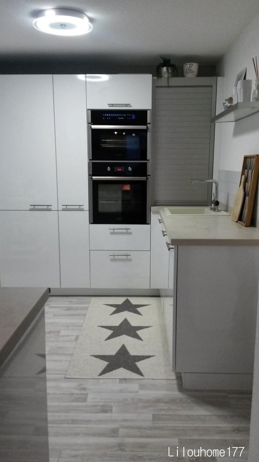 indogate | cuisine blanc laque et gris