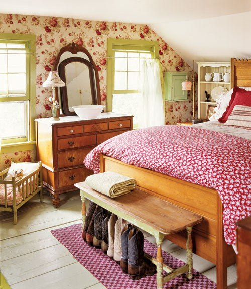 French style bedroom home decorating ideas for Country cottage bedroom