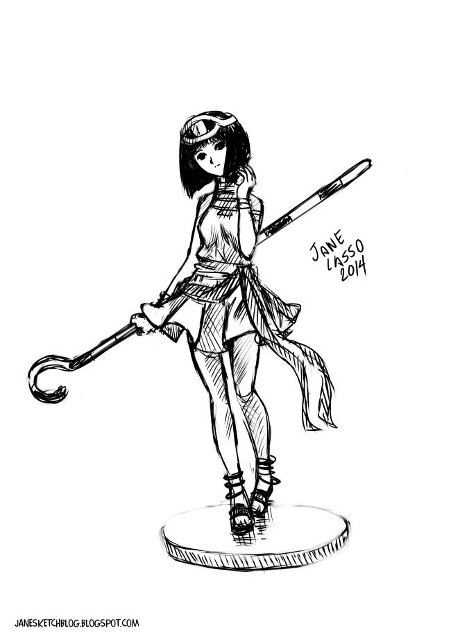 Sketch de chica manga 2