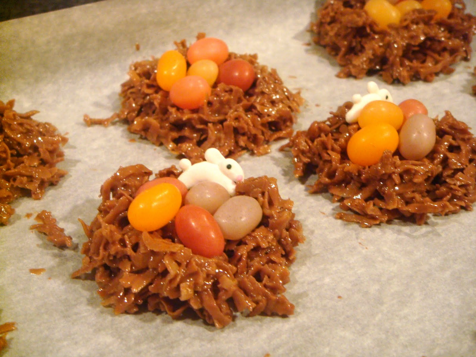 Chocolate Coconut Nests With Jelly Bean Eggs Recipe — Dishmaps