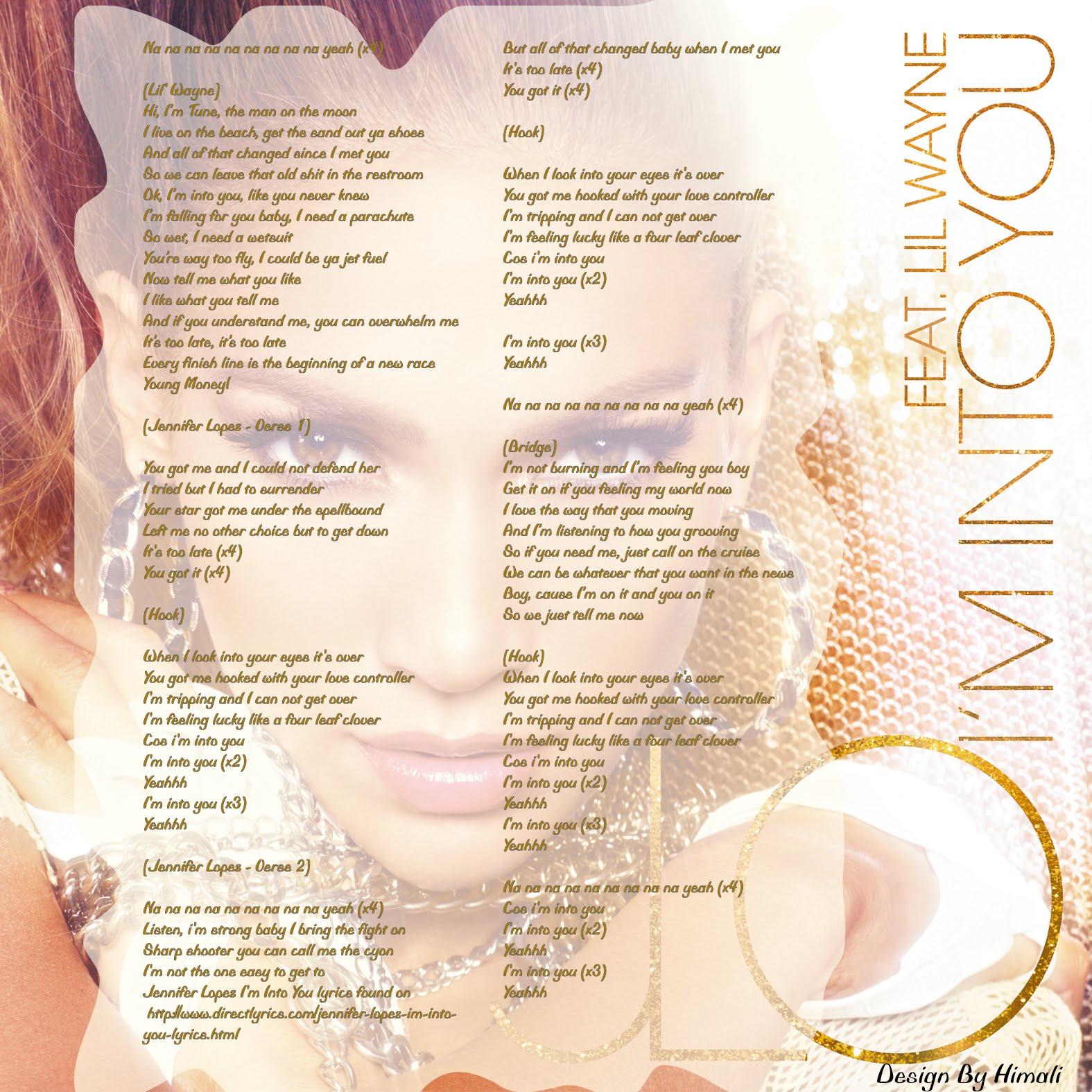 Songtext von Jennifer Lopez feat. Lil Wayne - I'm into You ...