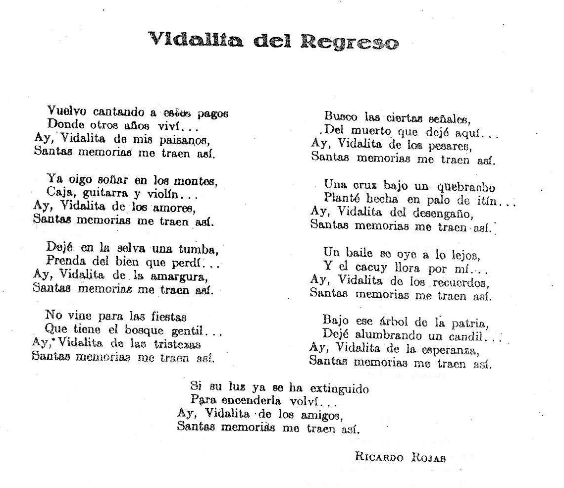 letra de folklore argentino: