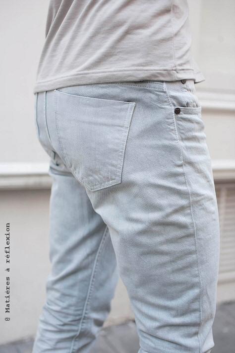 Jeans gris Thvm Atelier pour homme