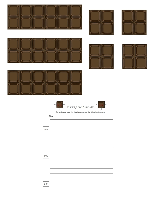 math worksheet : first grade gallery lessons for little learners fractions in  : Hershey Bar Fraction Worksheet