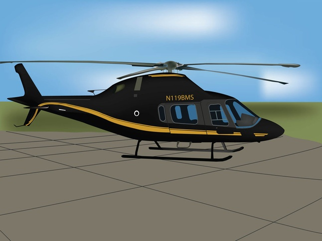Free Black Helicopter Vector Graphics