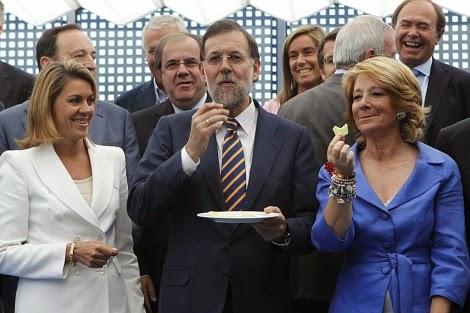 cospedal, rajoy, esperanza aguirre, partido popular, gobierno, españa, fiesta