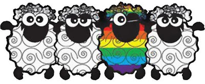 Rainbow sheep - We add colour to a drab world!