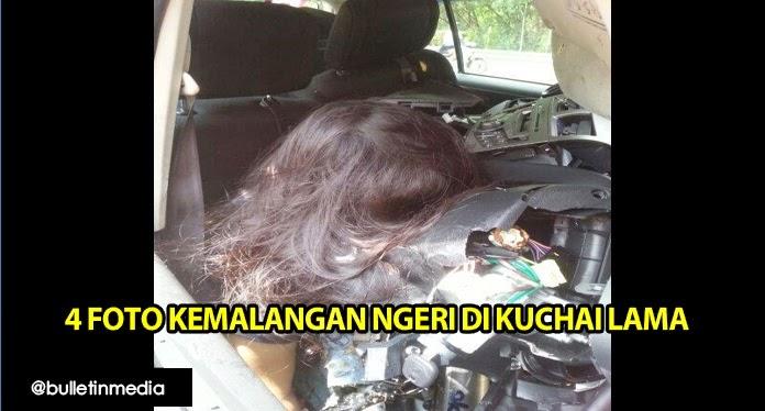 4 Gambar Kemalangan Ngeri Di Kuchai Lama Melibatkan Seorang Wanita Maut