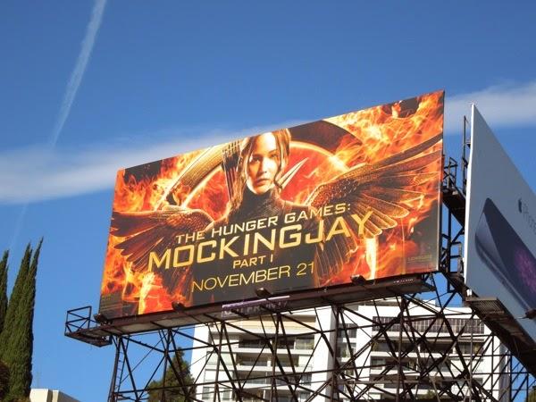 Hunger Games Mockingjay Part I movie billboard