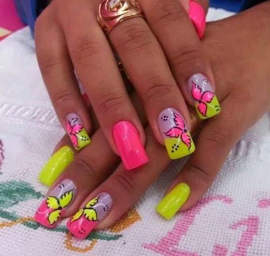 Decoración de uñas - Uñas decoradas - Diseño de uñas con gel 2014