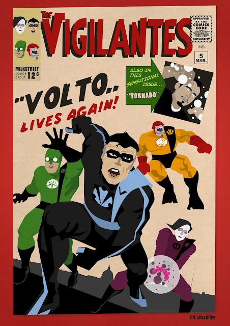 Variant Cover della serie dedicata ai Vigilanti