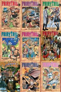 fairy tail anime - manga cover  1 - 10