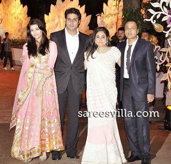 Aishwarya Rai, Abhishek Bachchan, Tina and Anil Ambani