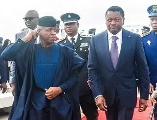 Yemi Osinbajo attends emergency ECOWAS meeting in Togo