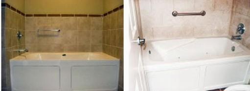 skirted whirpool baths