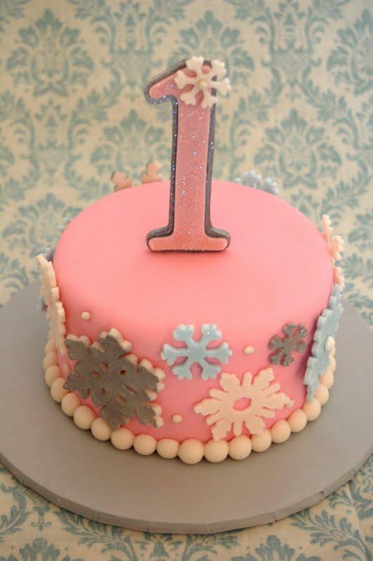 Winter Onederland Smash Cake