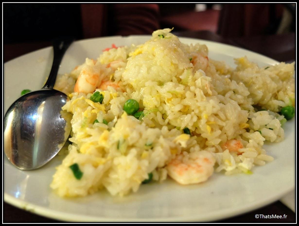 restaurant japonais Higuma cantine 163 rue Saint Honoré Paris riz cantonais crevettes