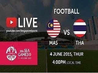Result Malaysia Vs Thailand Bolasepak Sukan SEA 4 Jun 2015