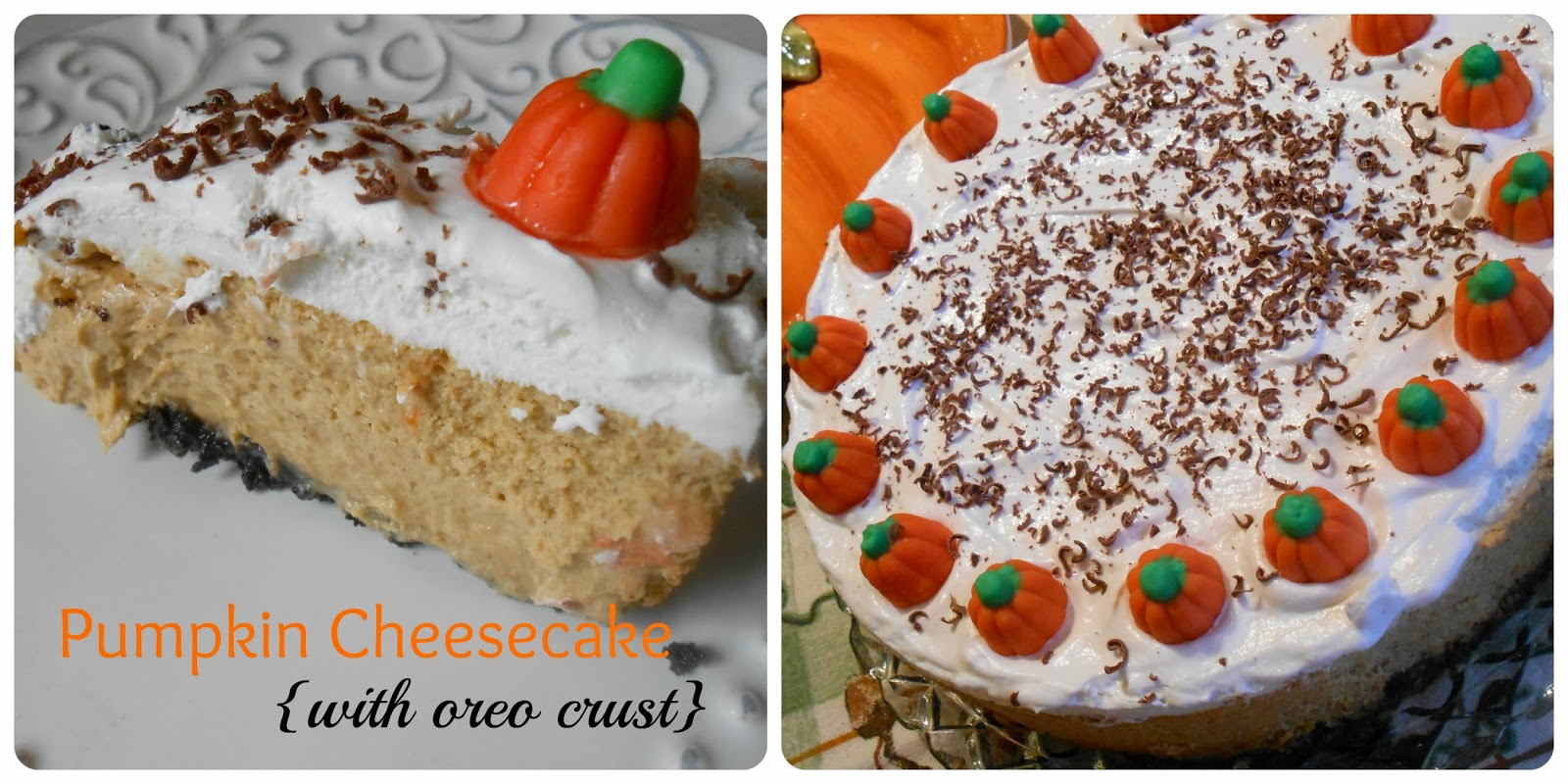 The Better Baker Pumpkin Cheesecake With Oreo Crust