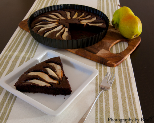 Featured Recipe | Chocolate Almond Pear Tart from Without Adornment #SecretRecipeClub #recipe #glutenfree #tart #dessert