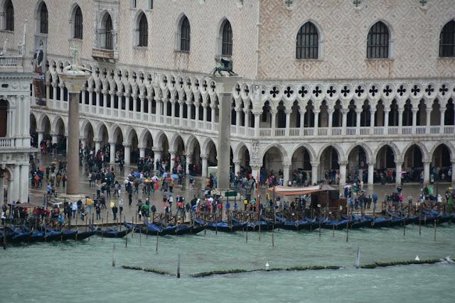Cruising into Venice Gondolas