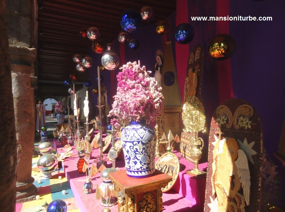 Altar of the Virgin of Sorrow in Pátzcuaro during the Holy Week