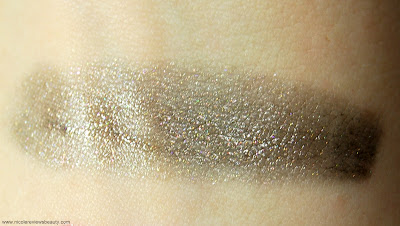 Este Lauder Pure Color Vivid Shine Lipstick Luminizer in Gunmetal Luminizer Swatch