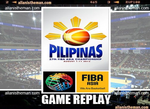 FIBA Asia Championship 2013 All Games Replay Videos