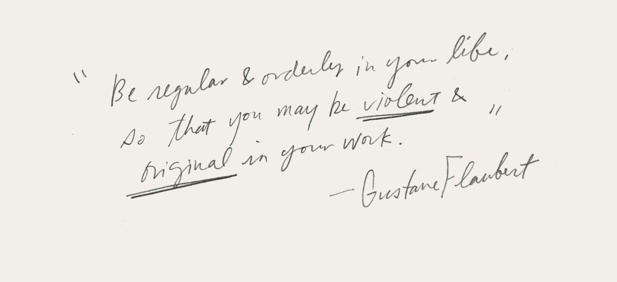 Kitty N. Wong / Gustave Flaubert quote
