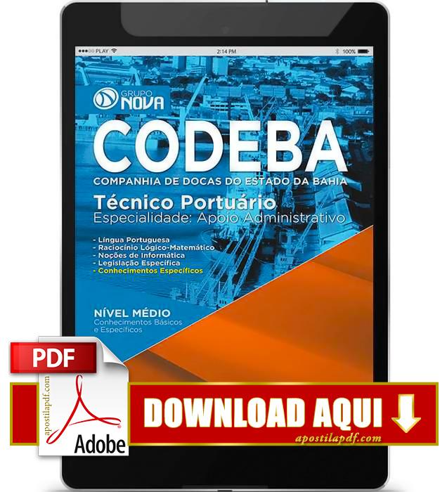 Apostila CODEBA 2015 PDF Download Técnico Portuário