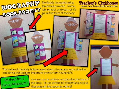 http://www.teacherspayteachers.com/Product/Biography-Unit-from-Teachers-Clubhouse-533030