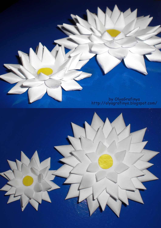 Как из бумаги сделать кувшинки